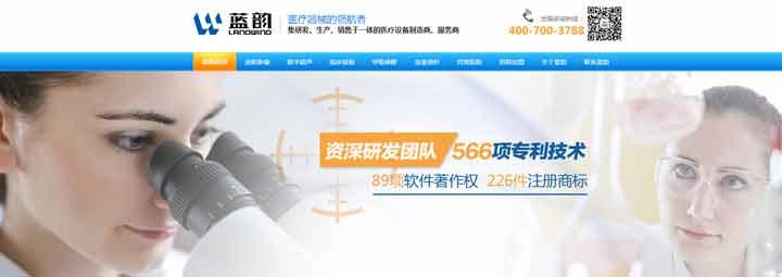 深圳网站制作案例分享:蓝韵实业