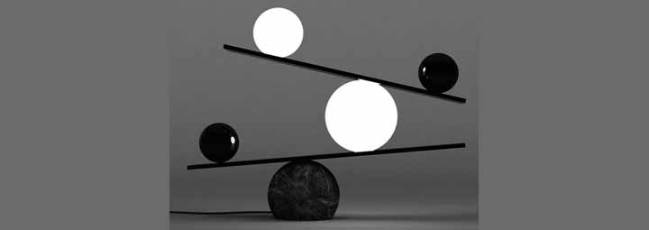 简约台灯艺术的平衡设计
