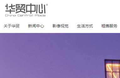 华贸中心网站制作设计案例